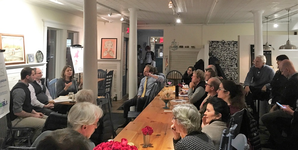 The Leveraging Change Speaker Series is an EAN member event that aims to bring in speakers from New England and across the country to advance understanding of emerging opportunities to make breakthrough progress toward Vermont's 2025 total energy and emissions reduction commitments. On the third Thursday of the month at Down Home Kitchen, we will bring in speakers that have demonstrated success in shifting paradigms around the energy system to share what they see as the highest impact drivers to make this kind of progress.