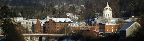 scenic view of Montpelier, Vermont