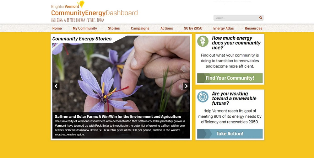 The Vermont Energy Dashboard is Vermont's go-to resource to help towns, businesses, and individuals take action to help us meet our 90% renewable by 2050.