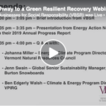 VBSR Webinar on the Pathway to a Green Resilient Recovery